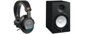 start music production equipment needed monitor headphone