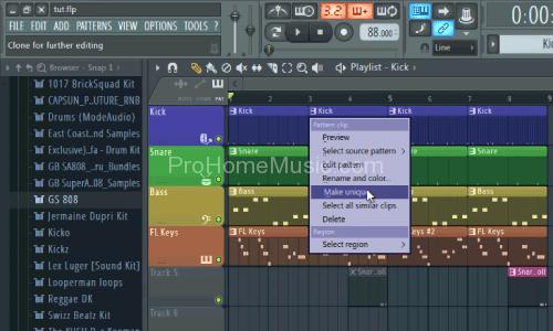 Make beats with FL studio 12 kick unique