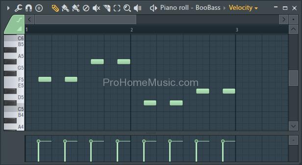 make beat with FL Studio 12 Boobass Piano roll