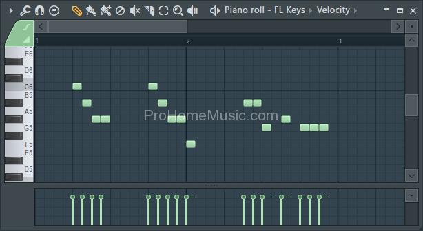 make beat with FL Studio 12 FL Keys Piano roll