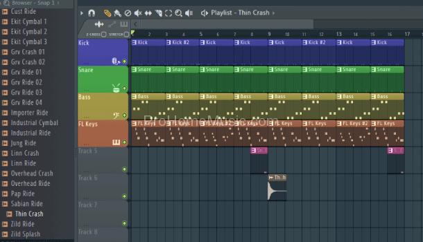 make-beat-with-FL-Studio-12-Sample-playlist