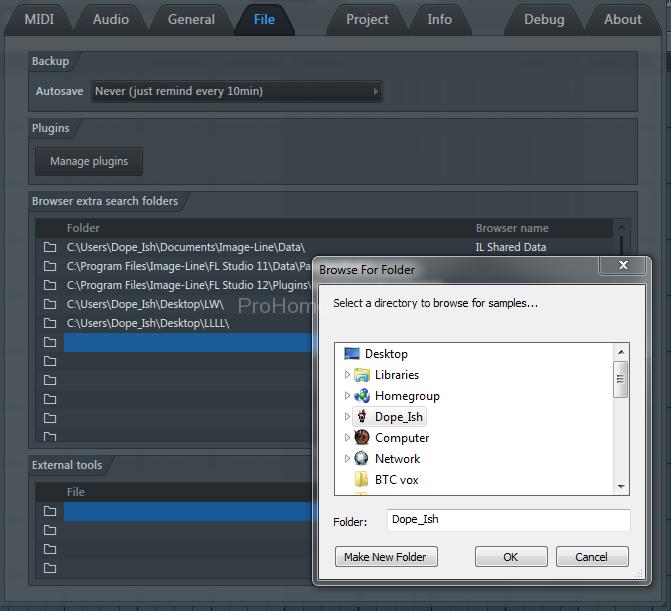 How to import sample packs into FL Studio file settings