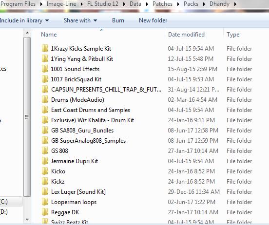 How to import sample packs into FL Studio user folder