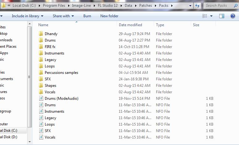 How to import sample packs into FL Studio windows explorer