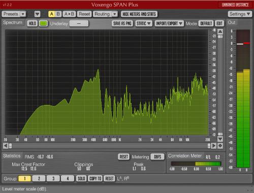 Voxengo span spectrum analyzer
