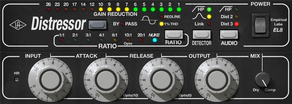Top 10 best compressor VST plugins 2018 Universal Audio Distressor EL8