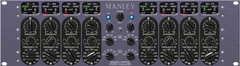 Top best EQ VST & AU plugins UAD Manley Massive Passive