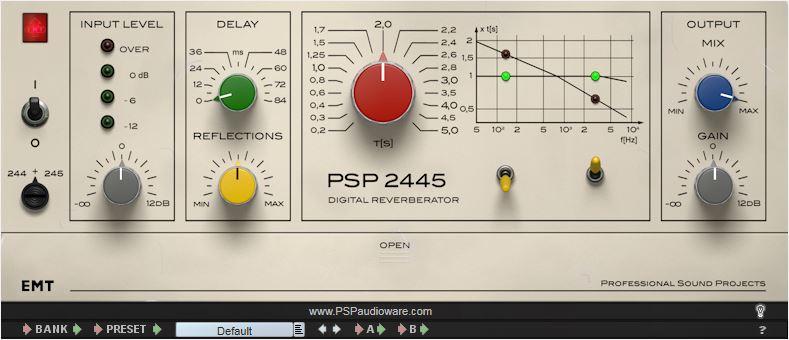PSP 2445 reverb plugin