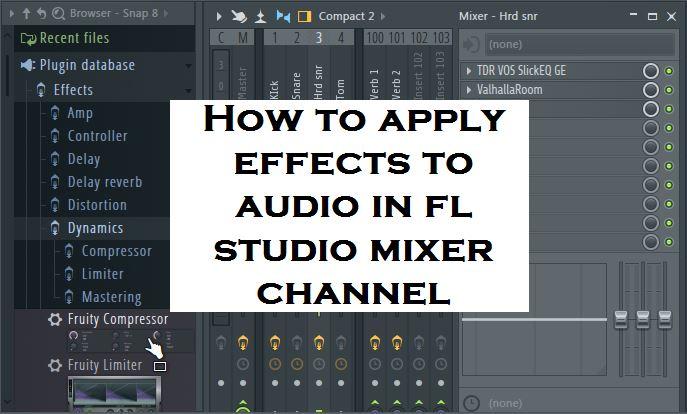 how to get audio files to fl studio