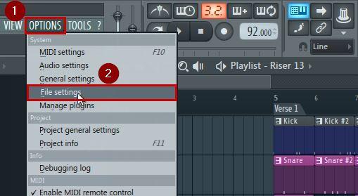 Recover lost corrupt project in FL Studio file settings