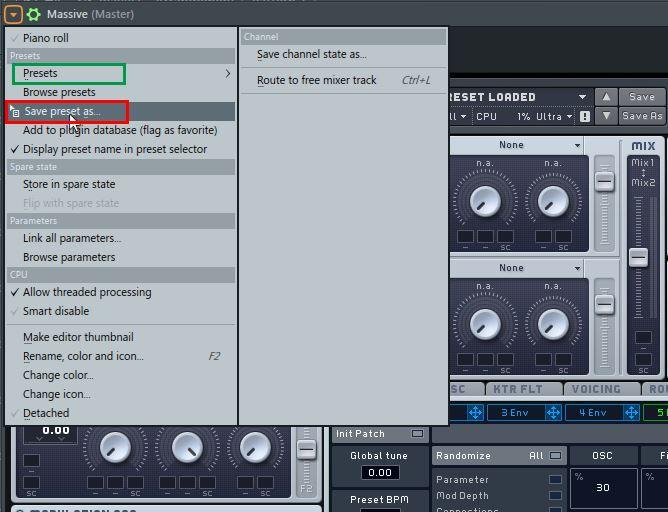 Save & manage plugin presets in FL Studio
