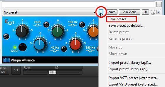 Save,manage,recall presets in FL studio,REAPER, DAW